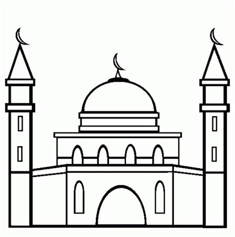 Coloring Mosque by Coloring Pages Of Mosque Ramadan And Eid Islam