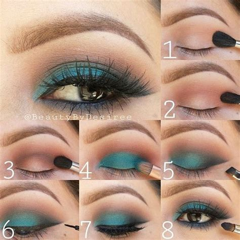teal eye makeup tutorial pictures   images