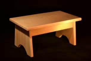 "Wood Step Stool Unfinished Pine 16""L x 9""W x 7.5""H"