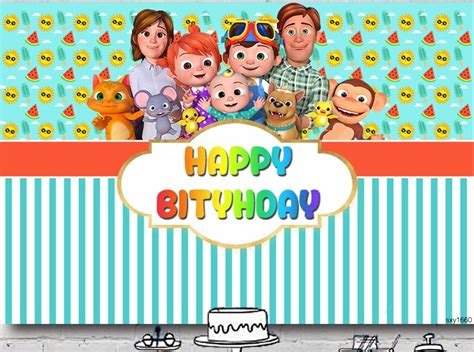 cocomelon nursery rhymes personalised birthday party