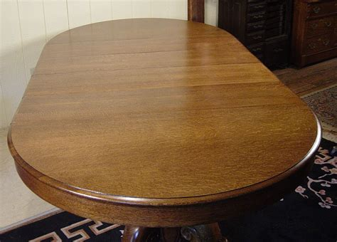 victorian oak dining room table   leaves