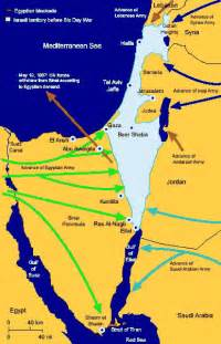Map of the Events Leading to the Six Day War (1967)