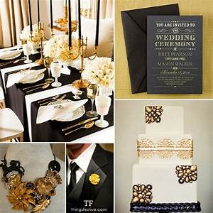 black and gold wedding inspiration things festive With black and gold wedding ideas