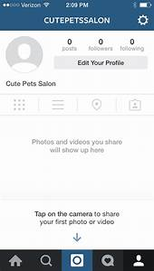 Image Gallery instagram empty profile
