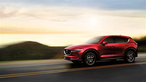 2018 Mazda CX5 red color on road wallpaper   upcoming suv