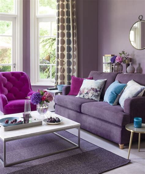 plum sofa decorating ideas purple living room ideas ideal home
