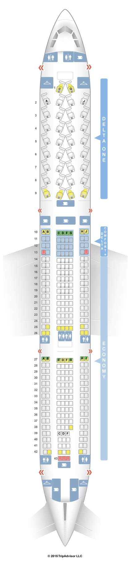 SeatGuru Seat Map Delta Airbus A330 300 (333) Seatguru