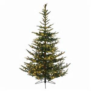 shop northlight everlands 7 5 ft 1 388 tip pre lit noble fir artificial christmas tree with 624
