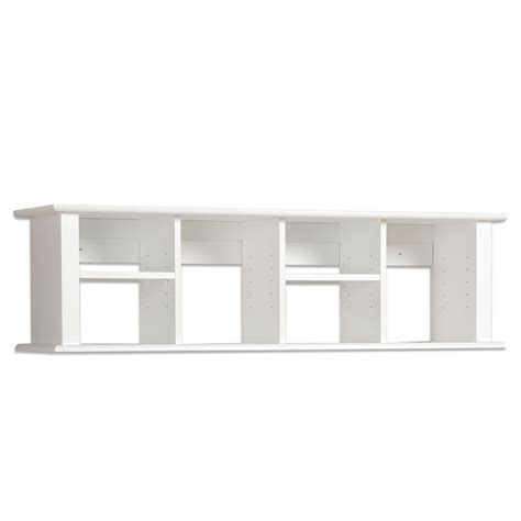 white wall mounted desk prepac sonoma white 48 inch wall mounted desk hutch