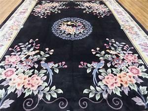 tapis chinois incroyablement beau en soie 100 soie sur With tapis chinois en soie