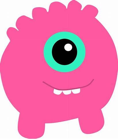 Monster Clipart Pink Alien Transparent Monstruos Cyclops