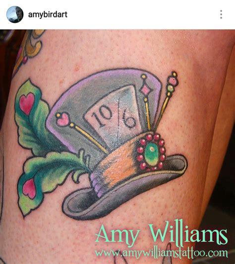 alice  wonderland mad hatter hat tattoo  amy williams
