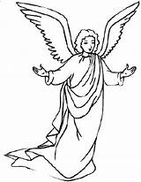 Angel Angels Coloring Pages Gabriel Drawing Awesome Line Clipart Printable Print Mary Christmas Colouring Preschool Sheets Getcolorings Getdrawings Mesmerizing Colorluna sketch template