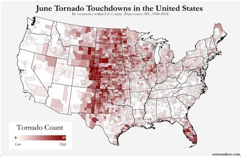 june tornado touchdown conus county u s tornadoes