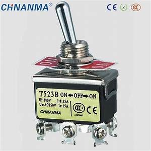 China Double Pole Double Throw Double Reset Metal Toggle
