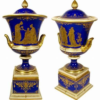 Porcelain Dresden German Antique Cobalt Lamm Painted