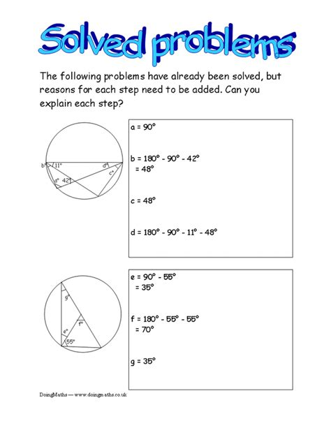 circle theorems worksheet free worksheets library