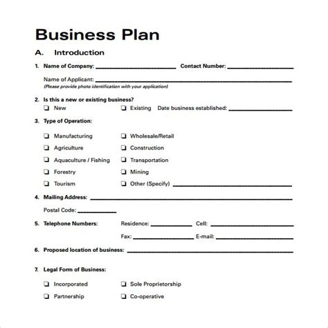 business plan template for existing business number 4 cake template free template design