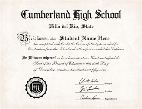 High School Diploma Templates For Free by 35 High School Diploma Template Printables Free