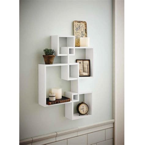 zimtown set   decorative wood floating wall shelf