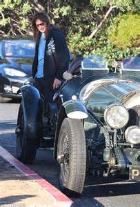 bruce jenner  son brandon check  wheels  la car