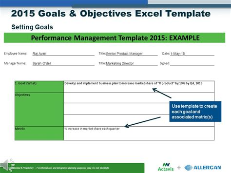 Goals And Objectives Template Excel by Goals Objectives Setting Ppt