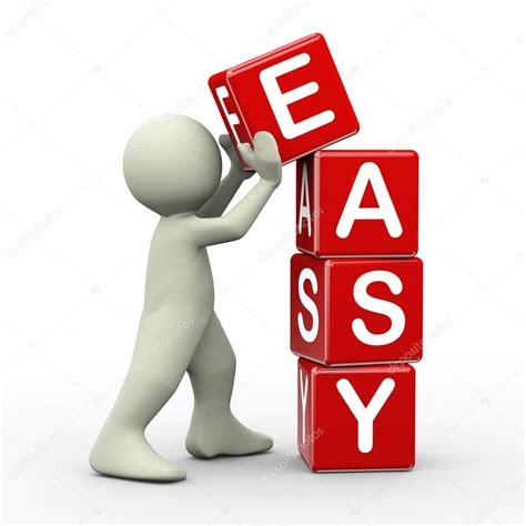 easy and 3d man placing easy cubes stock photo 169 nasirkhan 38240011