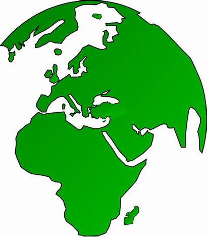 Africa Globe Map Clip Clipart African Europe