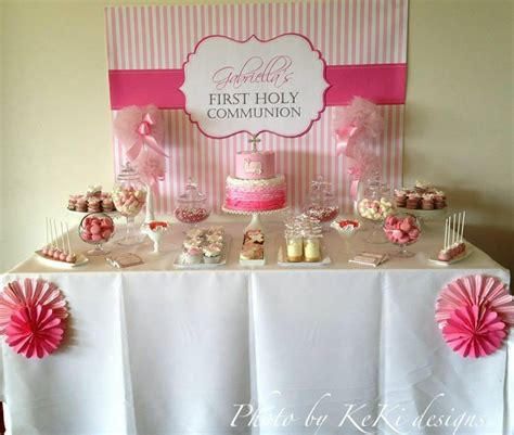Baptism Decoration Ideas For Boy by Pink And White Holy Communion Candy Buffet Ideas Little