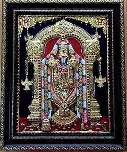 Balaji Tanjore Painting by VANI VIJAY Plywood
