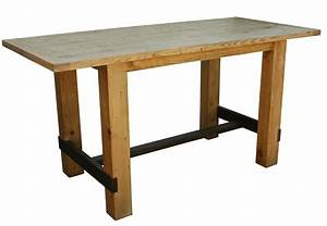 Reclaimed Wood Table Bar Height Decorative Table Decoration