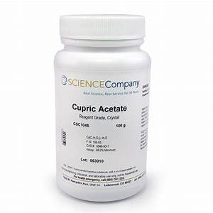 Cupric Acetate Aka Copper Acetate  100g For Sale  Buy From The Science Company