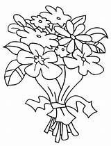 Bouquet Coloring Flowers Bunch Flower Pages Drawing Colouring Sketches Roses Colour Sheets Reference Vase Clipart Draw Drawn Arrangement Printable Bouquets sketch template