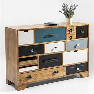 Möbel De Kommoden : kommode babalou von kare design mit 14 schubladen in braun ~ Watch28wear.com Haus und Dekorationen