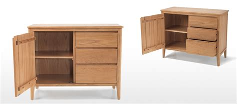 Small Sideboard With Drawers by Eklund Oak Small Sideboard With Drawers Quercus Living