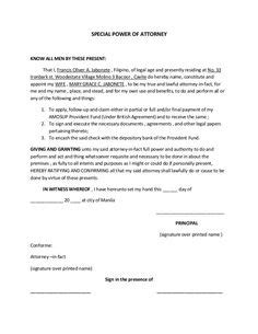 power of attorney letter printable sle simple promissory note form real estate 9187