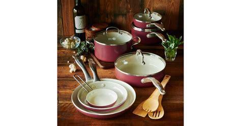 cookware nonstick ceramic healthy piece greenpan food popsugar