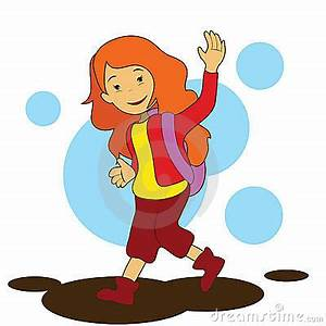 Going To School Girl Clipart - Clipart Suggest