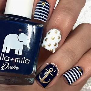 20 Nautical Themed Nail Arts You Will Like - Pretty Designs
