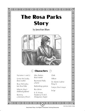 Rosa Parks: Read-Aloud Play, Civil Rights | Printable Texts