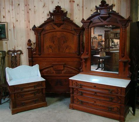 Bedroom Set With Marble Top by Great 3 1870 S Walnut Marble Top Bedroom