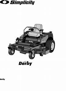 Simplicity Lawn Mower Zt2561 User Guide