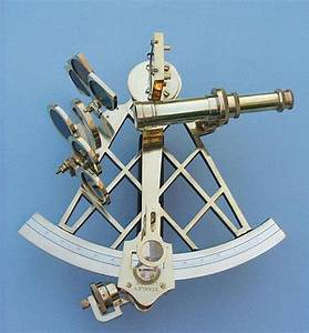 Beautiful Large Eight-inch Solid Brass Sextant from The ...