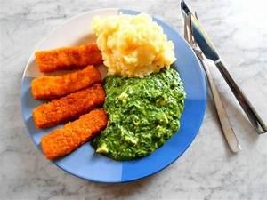Kartoffelpüree mit Spinat & Fischstäbchen Rezept kochbar de