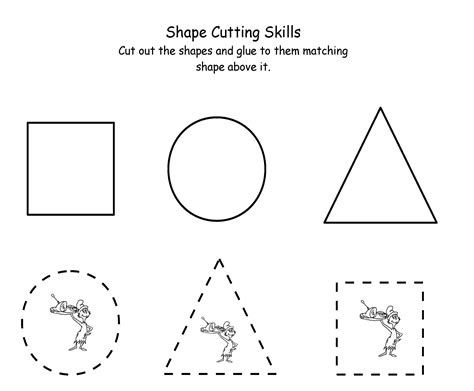 preschool cut outs kindergarten worksheets cut out greater than less 225