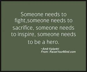 Motivational & ... Self Sacrifice Hero Quotes