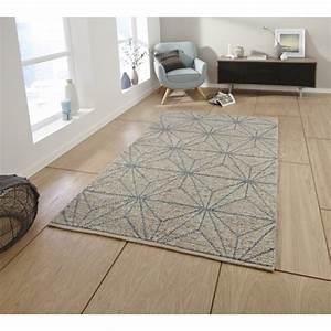 tapis alpha en bleu et beige tapis de salon en laine With tapis beige et bleu