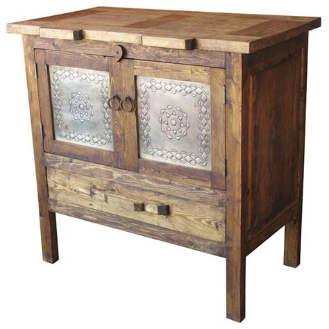 Mexican Farmhouse Wood & Tin Sideboard   Farmhouse   Buffets And Sideboards   by Indeed Decor