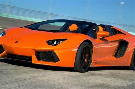 Rent 2015 Orange Convertible Lamborghini Aventador Las
