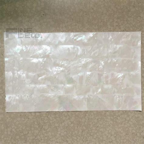 aaa grade white mother  pearl laminate sheet brick